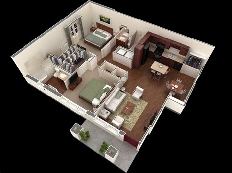 Bedroom Apartment/house Plans-futura Home Decorating