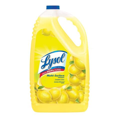 Lysol Floor Cleaner Poisoning Treatment by Lysol 144 Oz Lemon All Purpose Cleaner 36241 75610