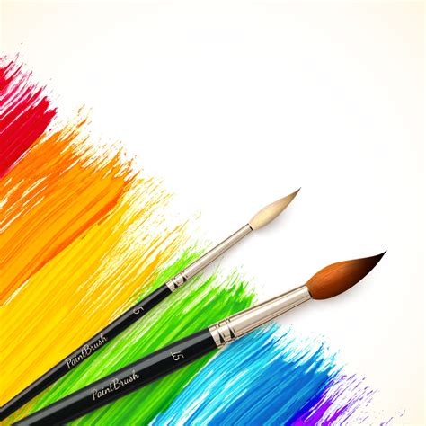 color paint brush vector color paint brush vector free vector graphic