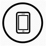 Icon Mobile Phone Cell Round Smartphone Device
