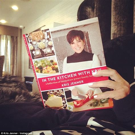 in the kitchen with kris kris jenner posts snap of in the kitchen with kris