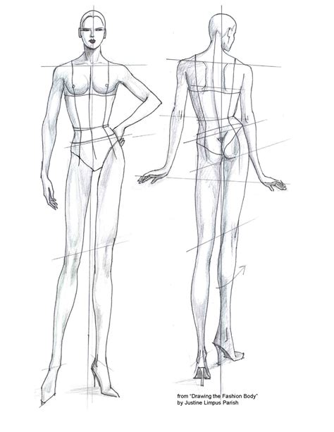 Fashion Templates Front And Back by Fashion Illustration Figures Front And Back