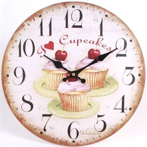 pendules de cuisine horloges murales de cuisine petits gâteaux aux cerises