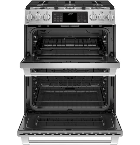 ge cafe csselss series    front control dual fuel double oven  convection