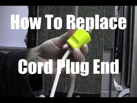 Ricksdiy How To Replace Appliance Power Cord Plug End