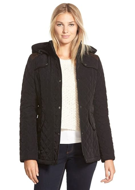 laundry by design quilted coat laundry by shelli segal laundry by design faux suede trim