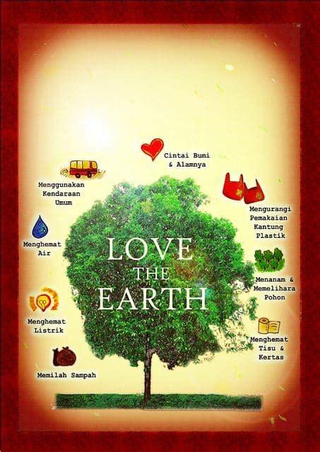 contoh gambar poster  slogan lingkungan hidup