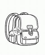 Coloring Backpack Pages Wuppsy Printables Backpacks Colouring Results Template sketch template