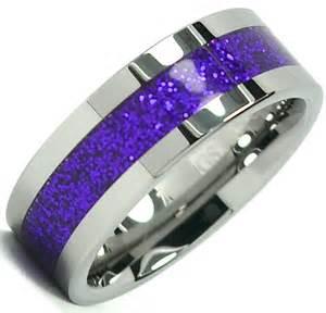 tungsten carbide ring shiny purple inlay wedding band 8mm titanium color ebay - Wood Wedding Band