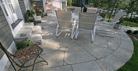 Adding Pavers To Concrete Patio Decorate Concrete Patio Photos Design Ideas And Patterns The Concrete