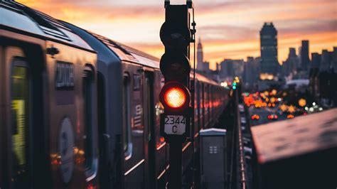 photography city train  york city urban  hd