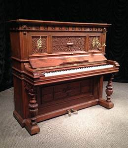 F. Schilling Victorian Carved Upright Piano | The Antique ...