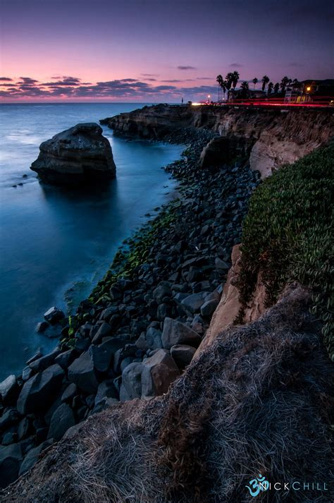 Evening Light Sunset Cliffs San Diego California