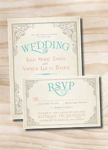 elegant scroll vintage rustic wedding invitation and With scroll wedding invitations with rsvp cards