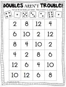 1000+ Images About Go Math Doubles On Pinterest  Doubles Facts, Double Game And Mastering Math