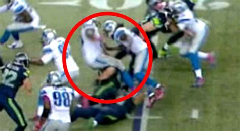 ugly block   seahawks resulted   gruesome