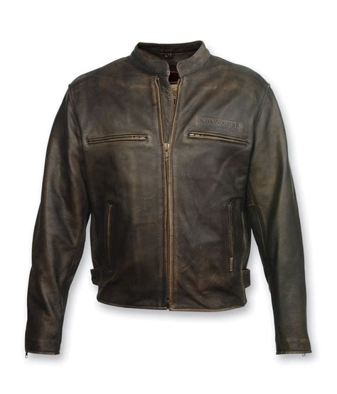 brown leather motorcycle jacket milwaukee motorcycle clothing co crazy horse brown