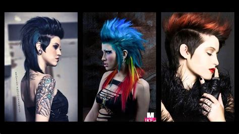 exceptional punk hairstyles  women youtube