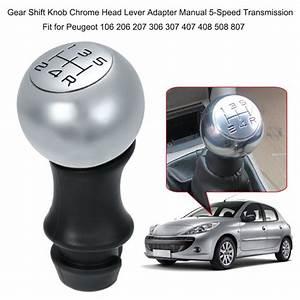 Gear Shift Knob Chrome Head Lever Adapter Manual 5
