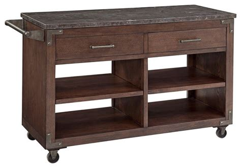 wooden kitchen rolling storage cabinet ellsworth mocha wood rolling kitchen cart rustic