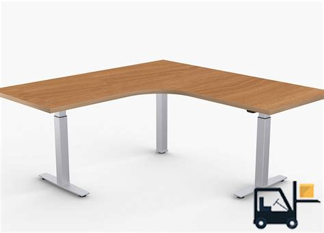L Shaped Adjustable Computer Desk  Adjustable Height Desks