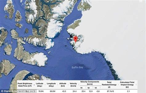 Meteor strikes near US Air Force base in Greenland | Us ...