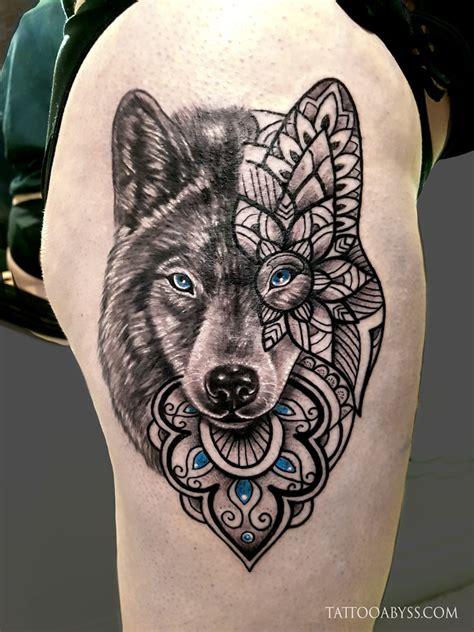 mandala de loup tattoo abyss