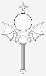 Wand Sailor Moon Coloring Drawing Wands Roblox Transparent Pngkey sketch template