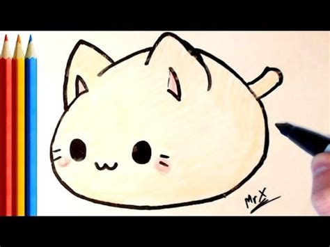 draw  fat cat super easy step  step tutorial