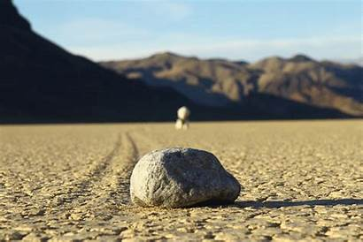 Rocks Moving Mysterious Racetrack Playa