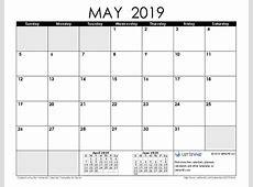 May 2019 Calendar FREE DOWNLOAD Freemium Templates