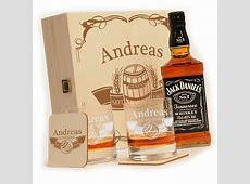 Holzkiste mit Jack Daniels No7 6tlg Whisky Geschenk