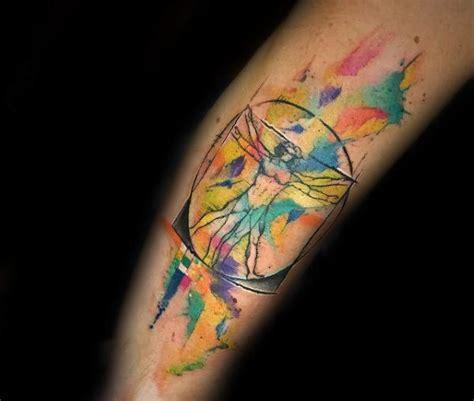 vitruvian man tattoo designs  men da vinci ink ideas
