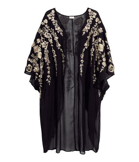 kimono femme h m lyst h m kimono in black