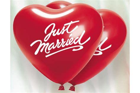 die ballondrucker dekoset  married herzballons