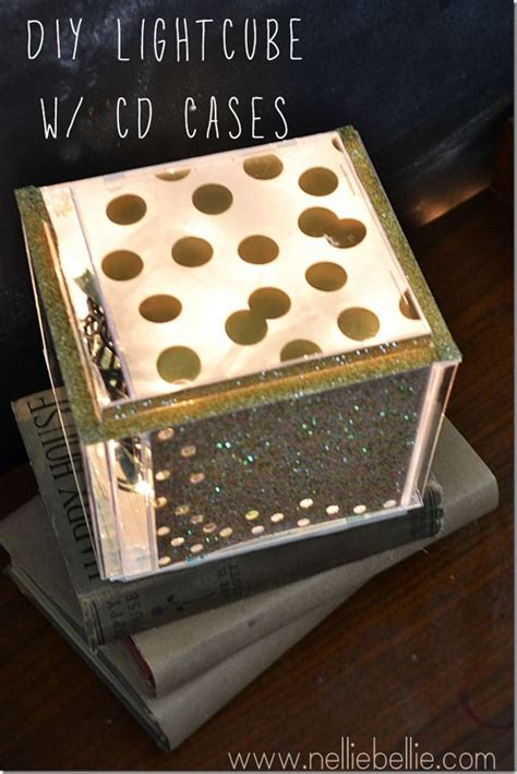light cube glitter projects pinterest cd case crafts