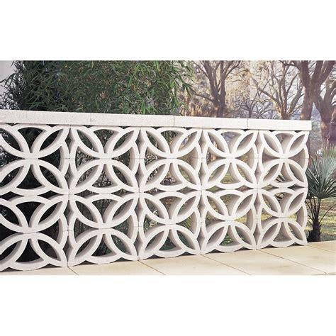 elements cuisine brico depot claustra en béton blanc l 40 x h 20 x p 9 cm leroy merlin