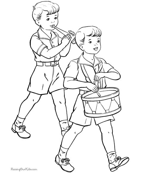 independence day coloring page kids summer coloring fun