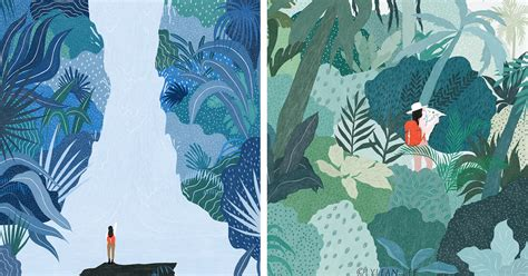 Grandiose Landscape Illustrations Offer a Break From Our ...