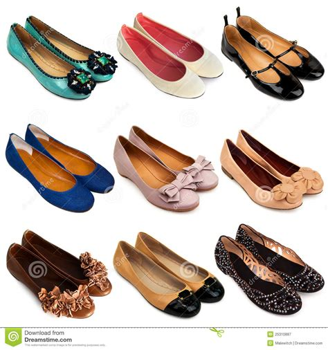 ballet flat shoes  stock image image  design black