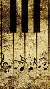 Vintage Piano Keys With Musical Notes iPhone 6 / 6 Plus ...