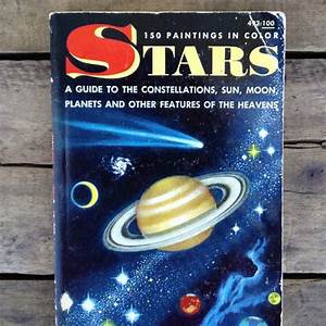 Vintage 1960s Astronomy Book       U0026quot Stars  A Golden Nature