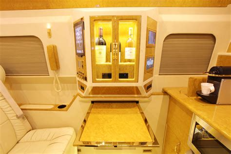 The thor motor coach a.c.e. Reále armored Mercedes-Benz Motor Coach is a hotel suite on wheels complete with a gold plated ...