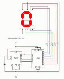 Control A Common Cathode Seven Segment Display Using 7490  4511 And A Press Button Switch Read