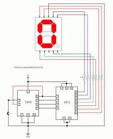 Control A Common Cathode Seven Segment Display Using 7490