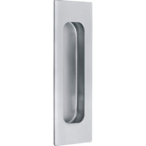 poign 233 e inox cuvette rectangle 224 encastrer pour porte de