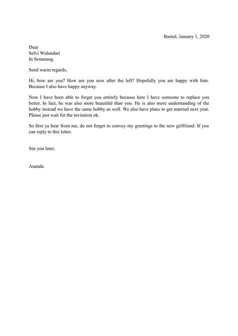 contoh surat bahasa inggris  terbaru