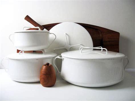 rare dansk kobenstyle white enamelware collection