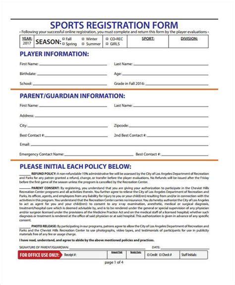 free 31 sle free registration forms pdf