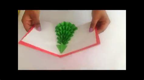 christmas tree pop  card youtube